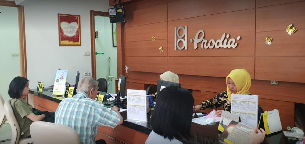front desk of prodia