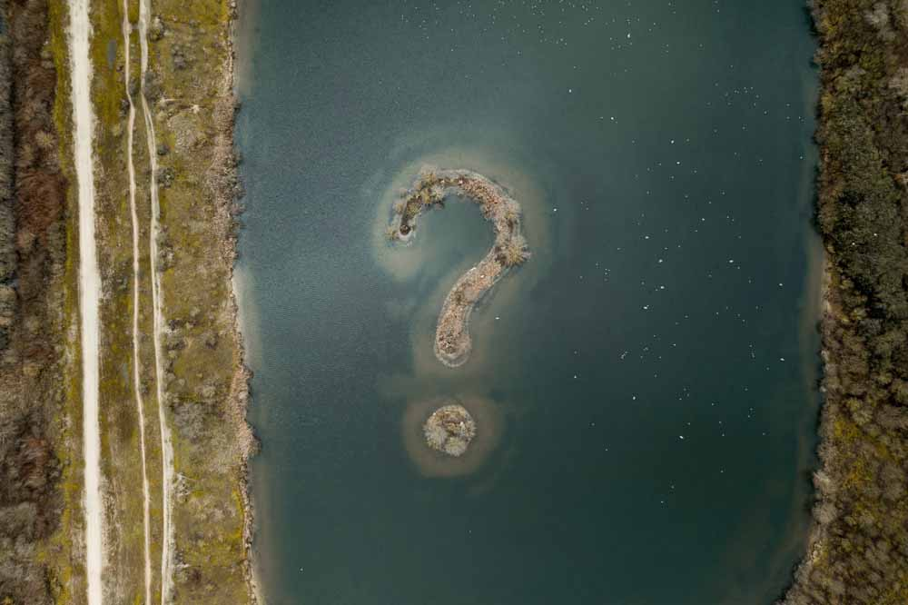 island shaped question mark