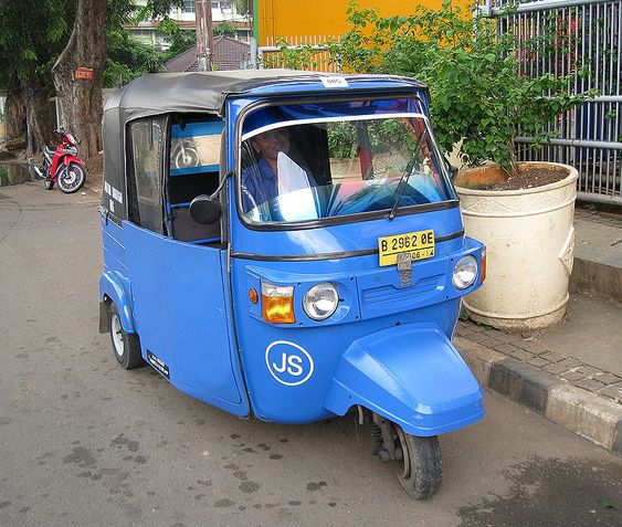 Jakarta's Most Iconic Transportation: Bajaj