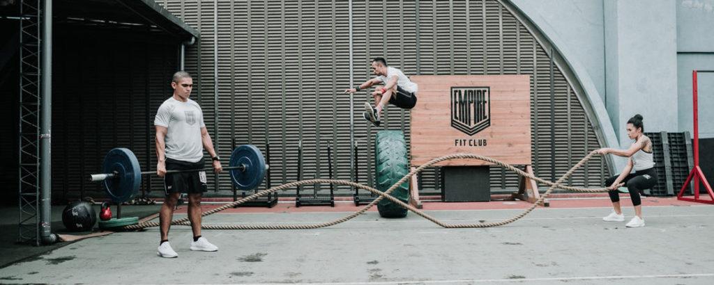 Empire Fit Club Jakarta  member doing practice