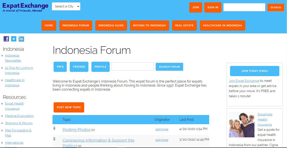 expatexchange Expat Forums in Indonesia