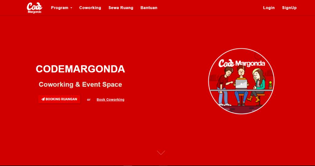 code margonda home page coworking space depok