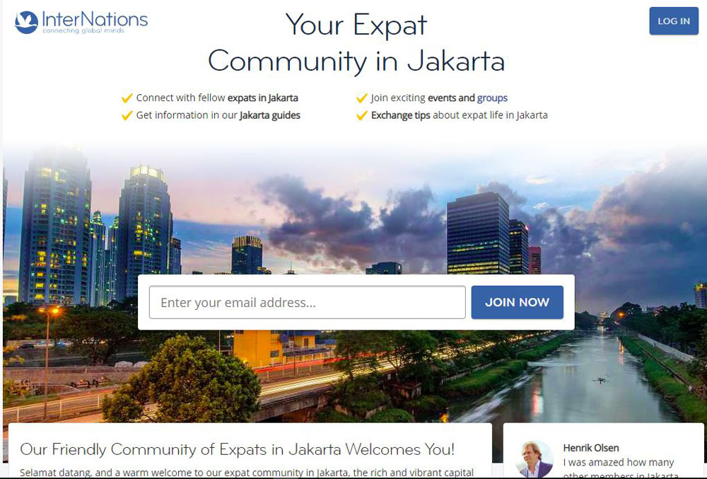 internations Expat Forums in Indonesia