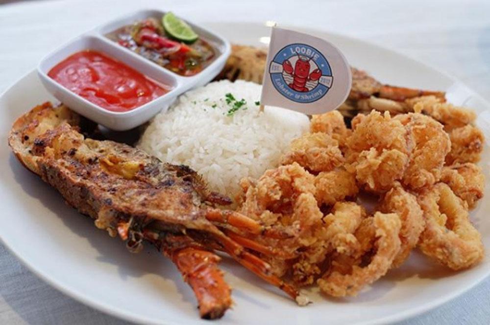 loobie lobster with rice seafood restaurant jakarta