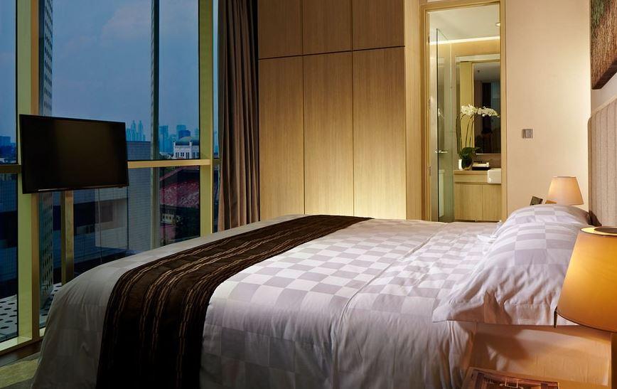 Best Apartments Near Rasuna Said: Bedroom of Fraser Residence Menteng
