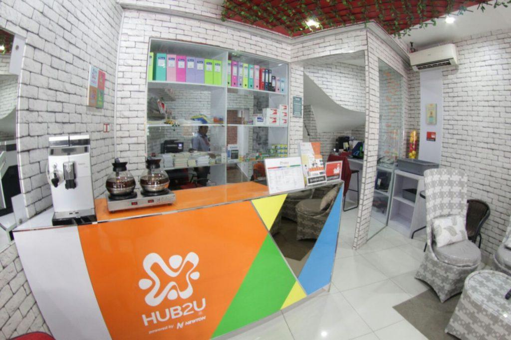 HUB2U Coworking Space front desk view