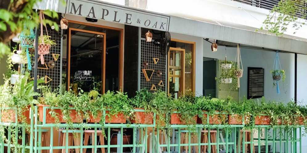 Maple & Oak view from outside