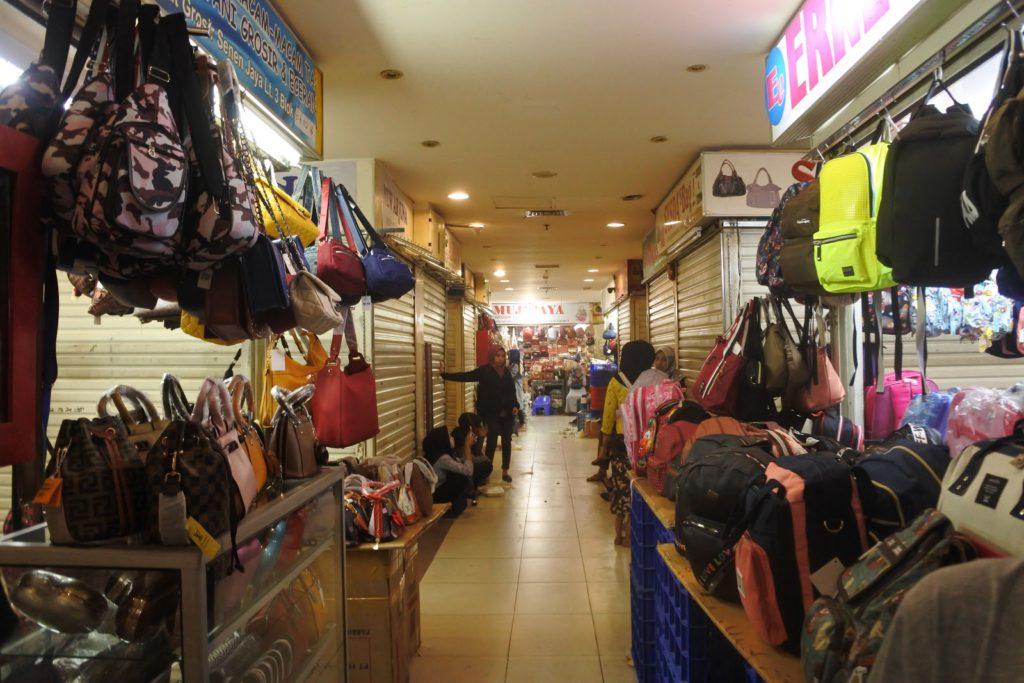 Pasar Senen thrift shop in Jakarta