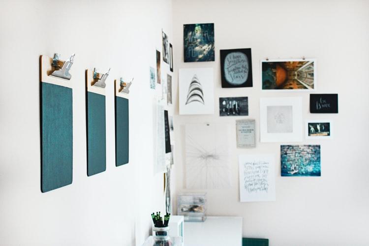 dekorasi dinding clipboard