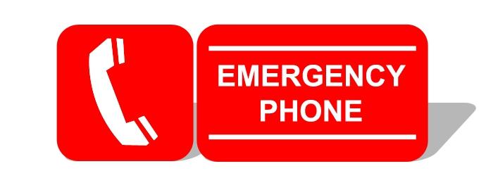 illustration of emergency phone