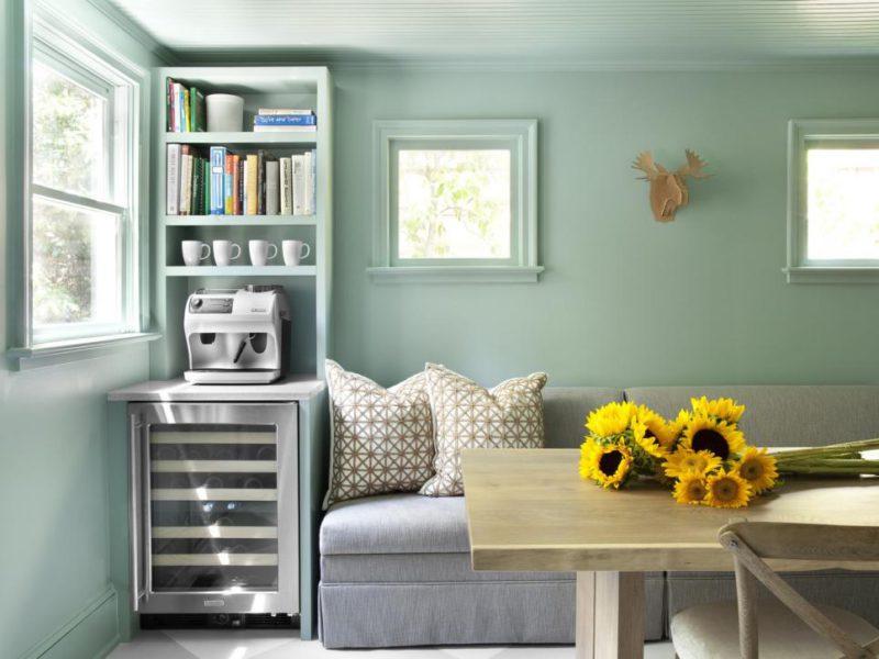10 Inspirasi Desain Ruangan dengan Cat Dinding Warna Hijau Mint yang Segar dan Teduh