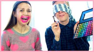 Blindfolded Makeup