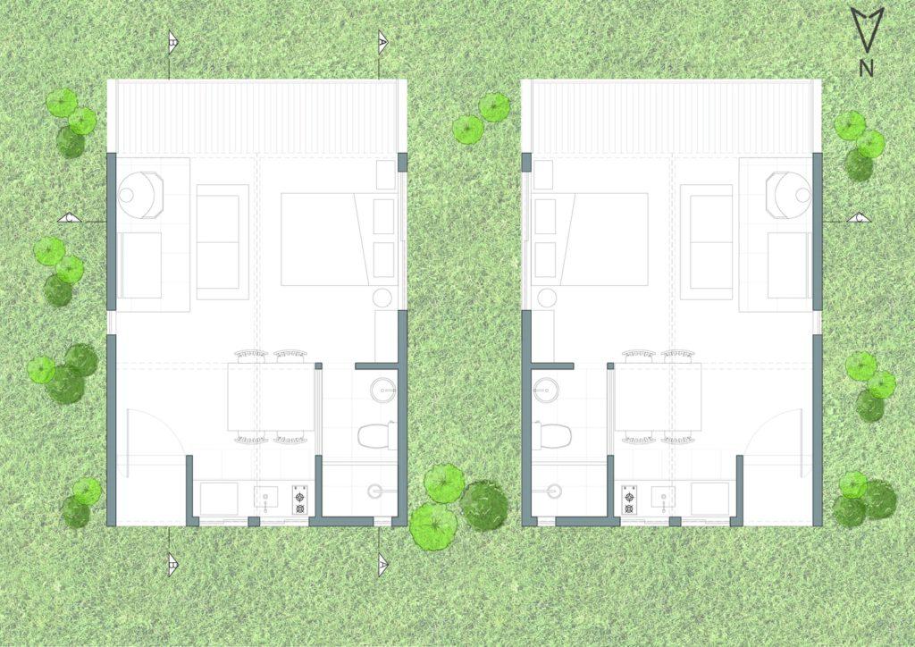 denah Cambará Container House