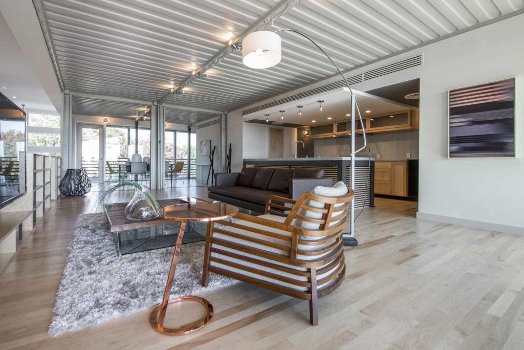 rumah kontainer: interior PV14 House