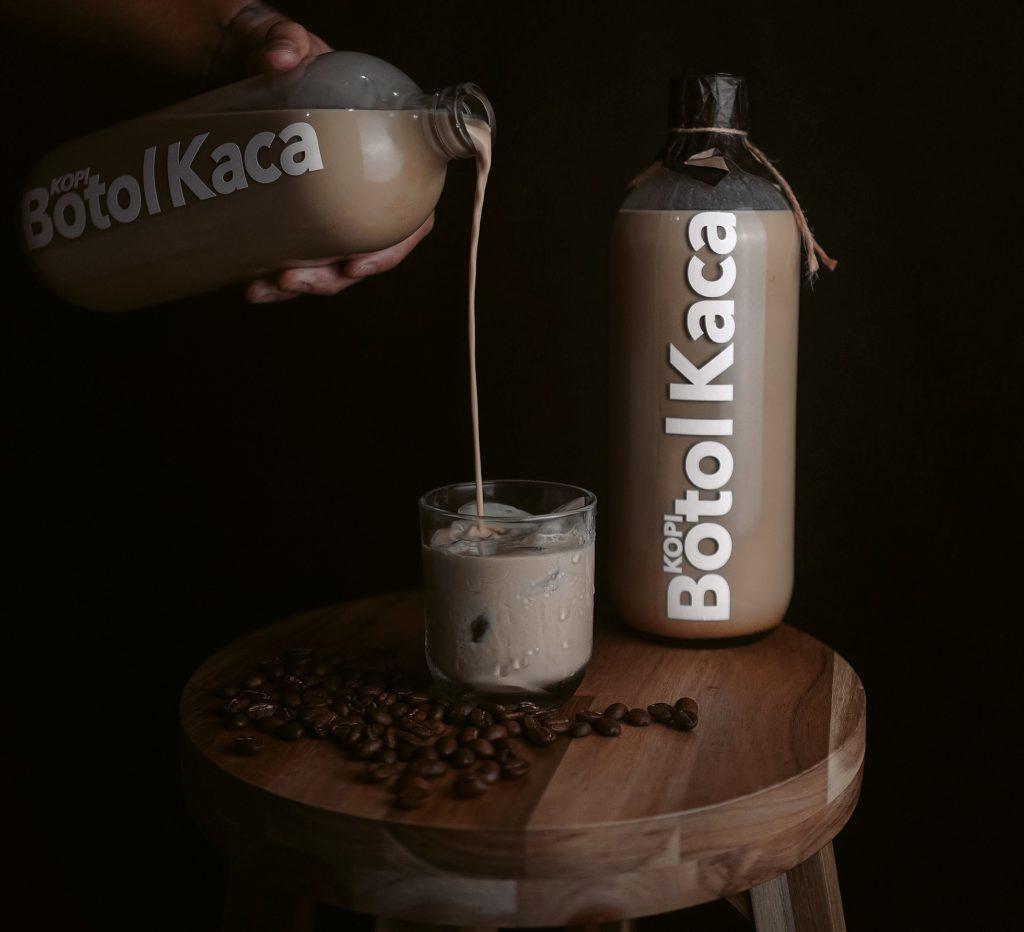 kopi kekinian kopi botol kaca