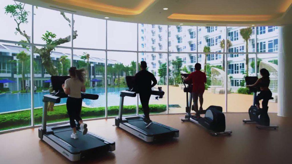Gym di Apartemen Puri Mansion