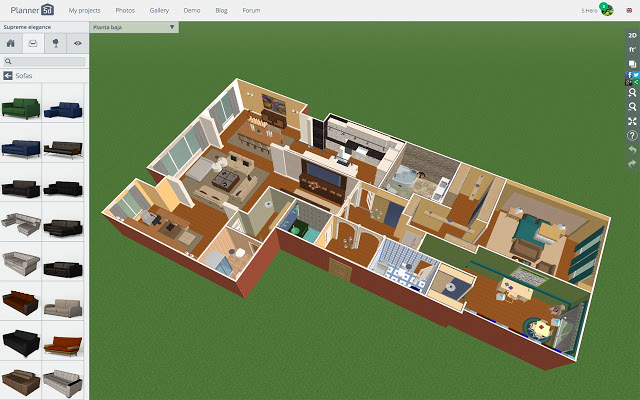 House Design Apps: Planner 5d layout view