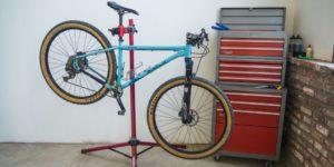Storing and repairing your bike can be done in a bike repair stand