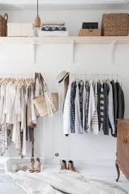 minimalist walk-in closet
