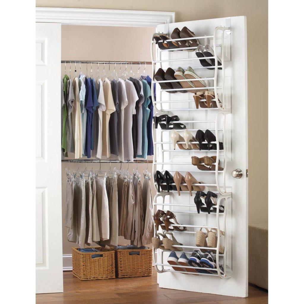store shoes on the closet door