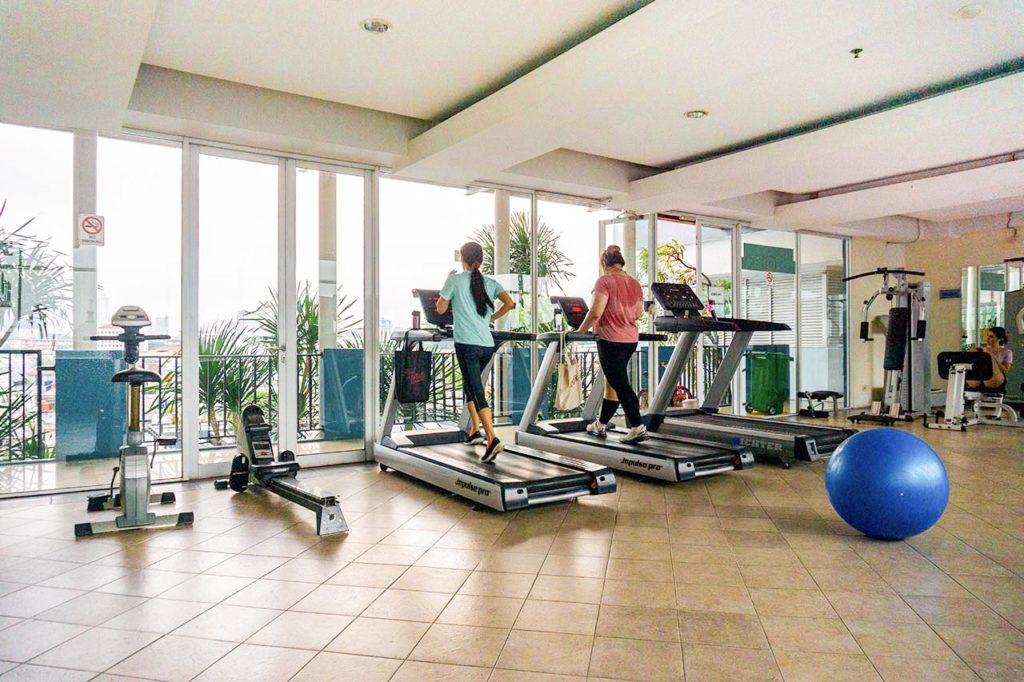 Supporting facilities such as a gym are usually available