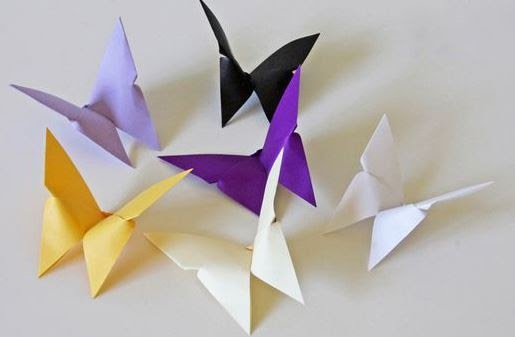 Butterfly origami creation