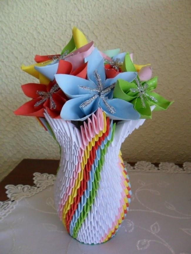 flower vase origami