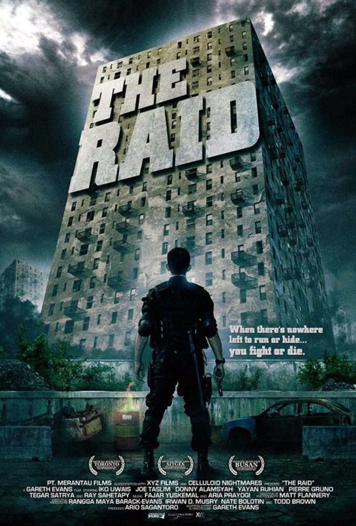 The Raid is a movie of gore action from Indonesia