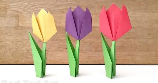 tulip origami creation
