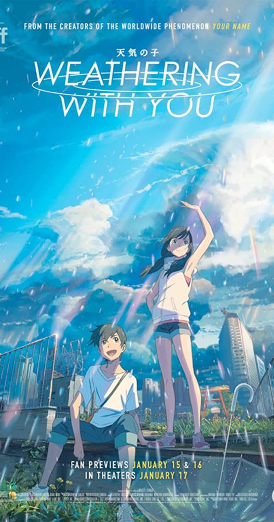 Weathering with You is the best animated movie by Makoto Shinkai