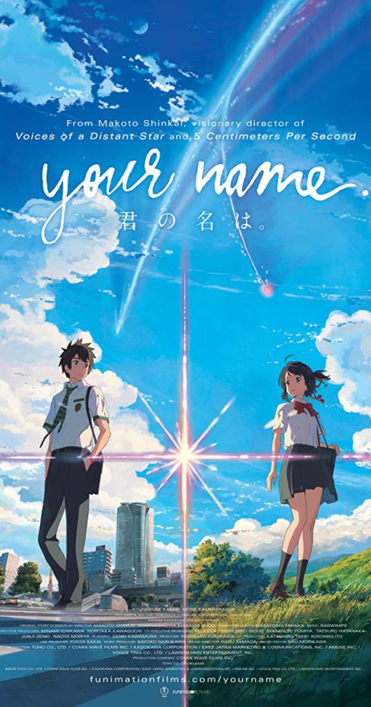 Your Name is the best animation Japan movie by Makoto Shinkai