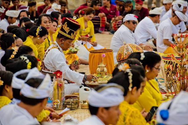 tumpek unduh bali ceremony