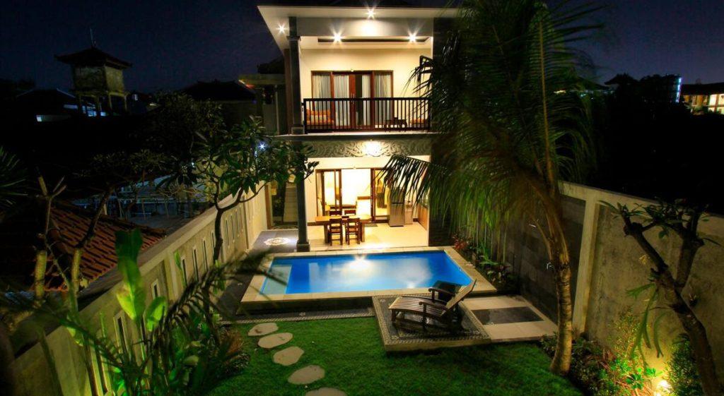outdoor pool at The Surya Kuta Villa