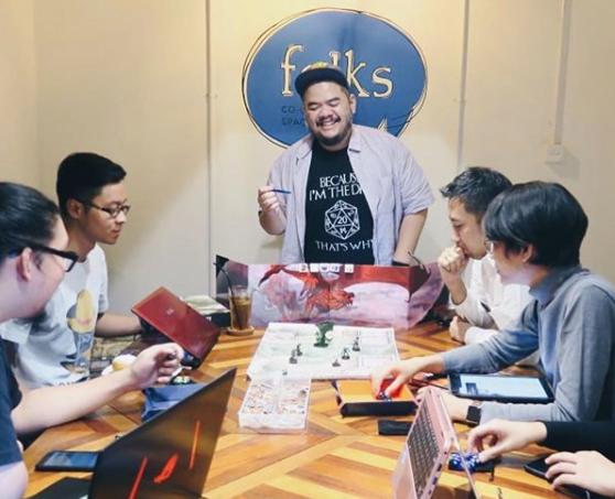 Folk Co-Gaming Space Board Games Cafe jakarta