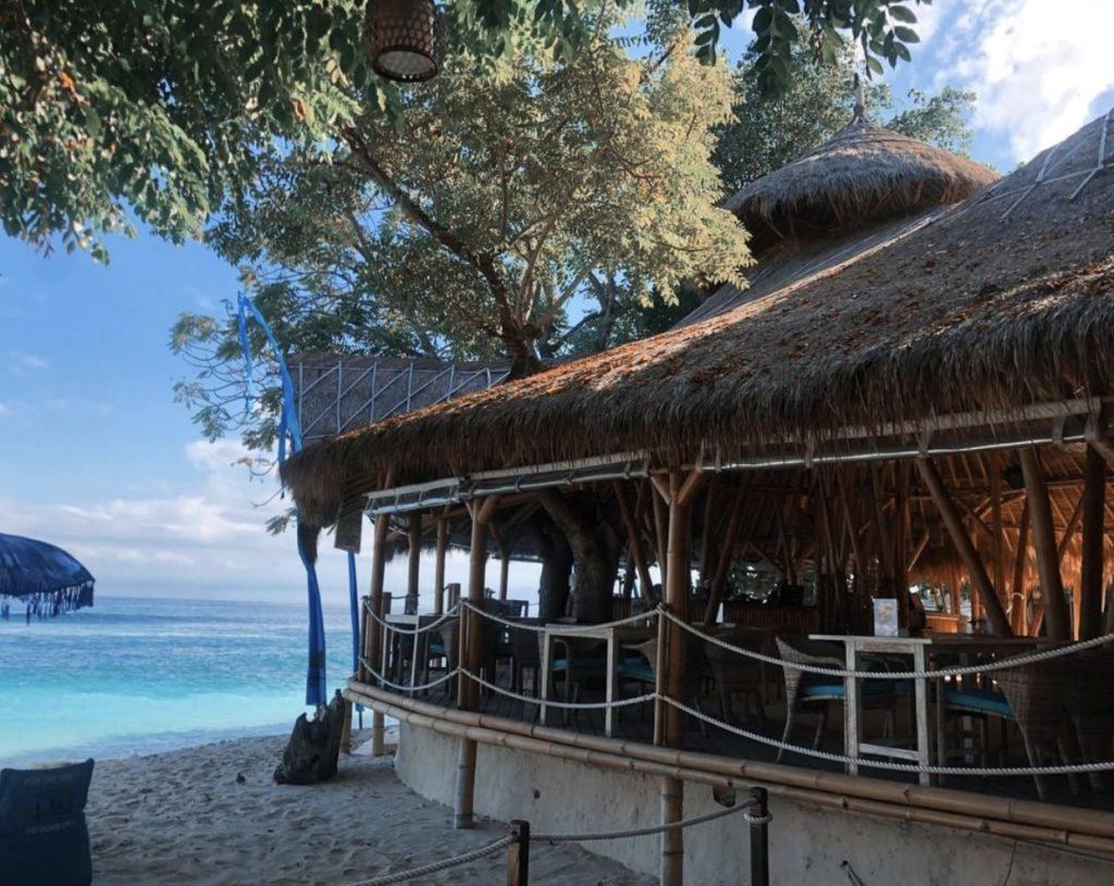 view of hai bar and grill in nusa lembongan bali