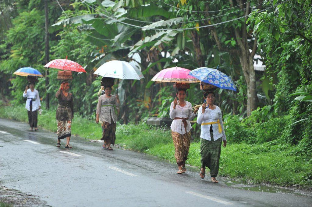 a rainy day in Bali