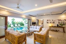 living space in Villa Kamboja, Legian