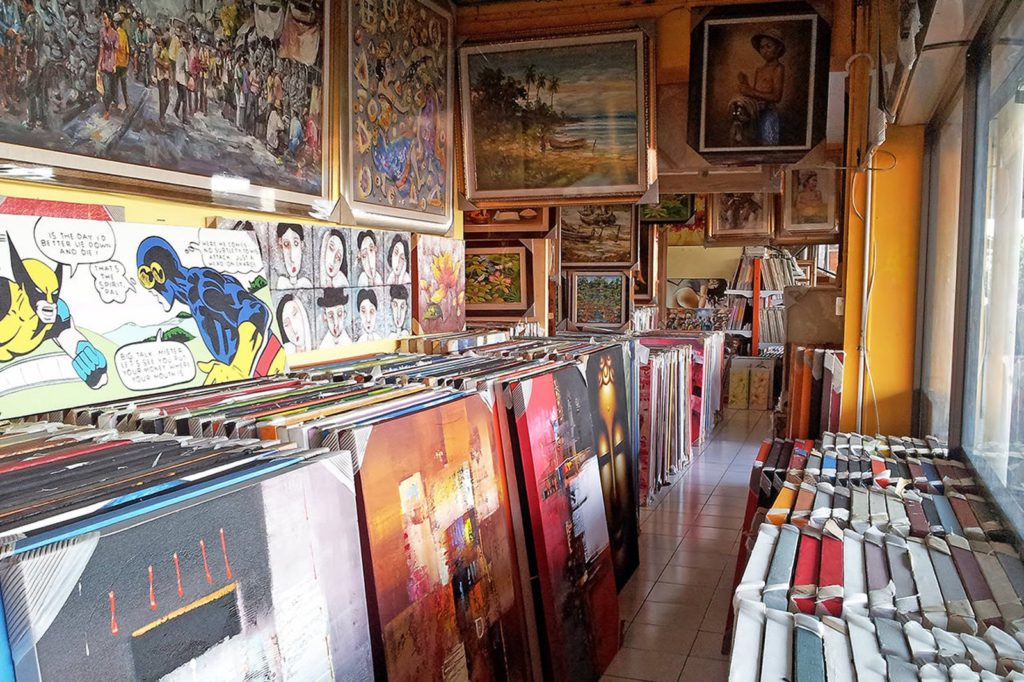Kumbasari art market in Bali