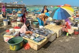 Kedonganan fish market at Jimbaran
