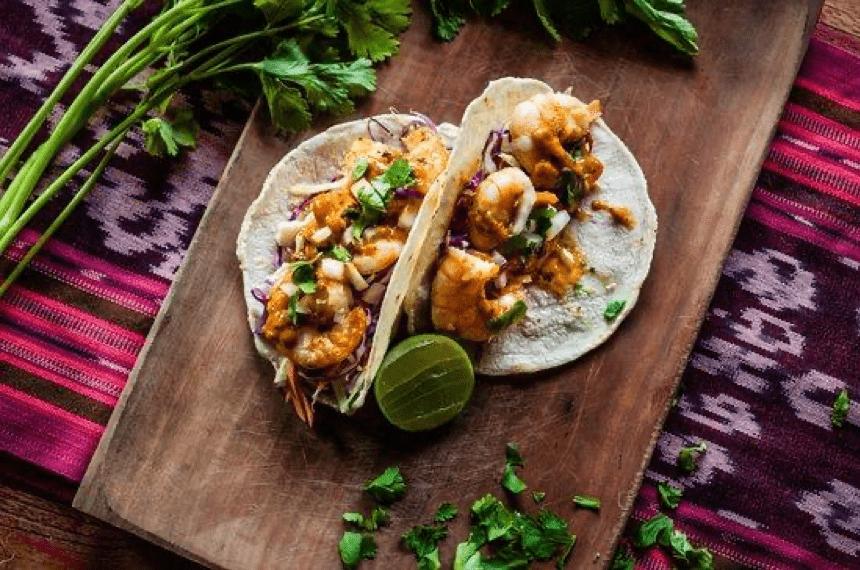 Taco udang barbekyu di Restoran Don Juan
