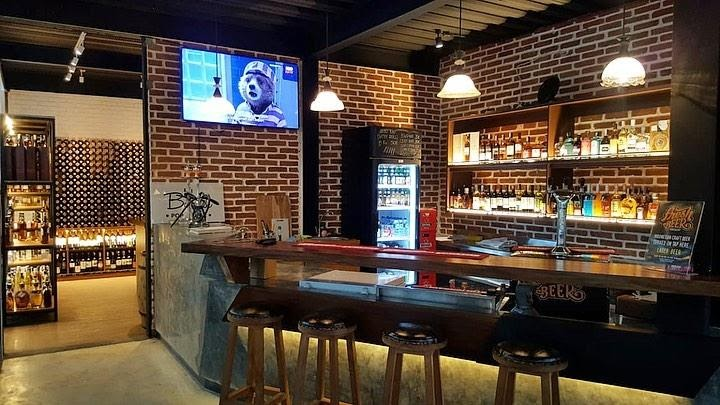 Cigar and wine lounge in AJ's Barrel Bottle Shop