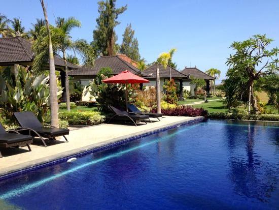 poolside of pandawa village in North Bali