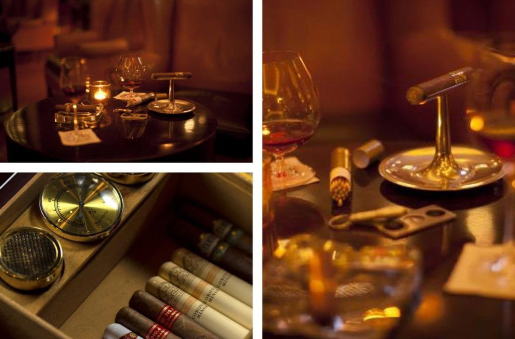 Cigar options in Viceroy Bar Bali
