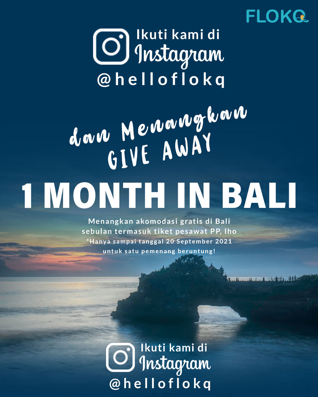 Flokq Giveaway - 1 Month in Bali