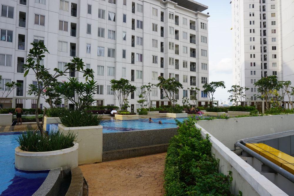 fasilitas olahraga apartemen bassura city