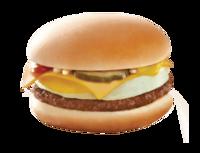 McDonald's menu cheeseburger with egg